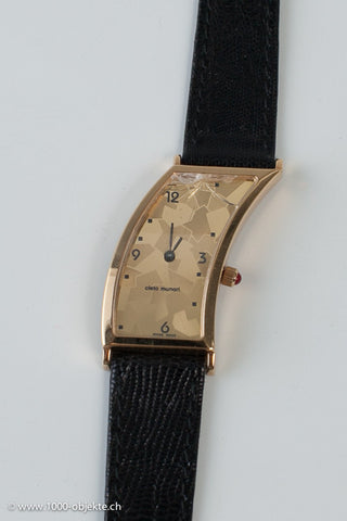 Cleto Munari. Lady-wristwatch, Hans Hollein 18k gold.