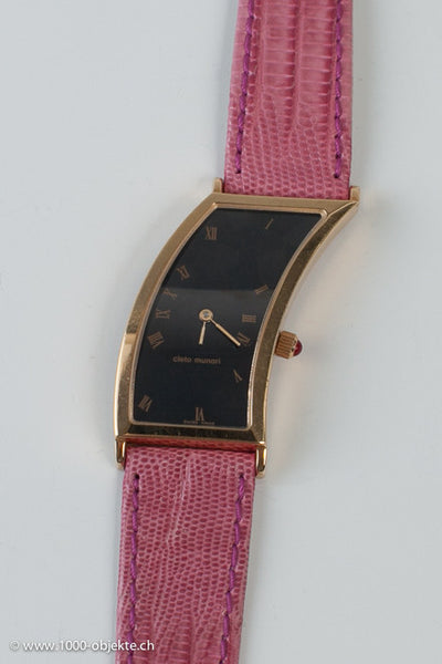 Cleto Munari. Lady-wristwatch, 18k gold. Hans Hollein