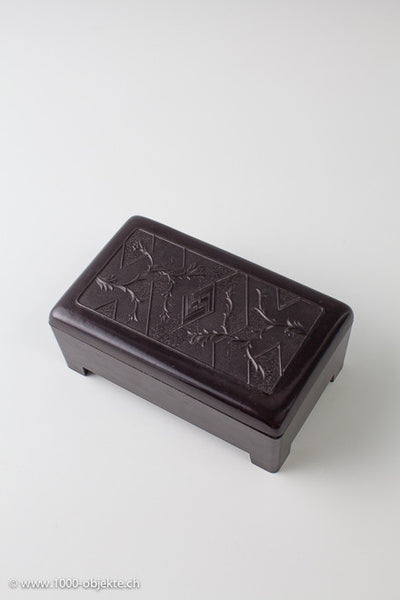 "Bakelite box from 1930 made by ""Ebena""."