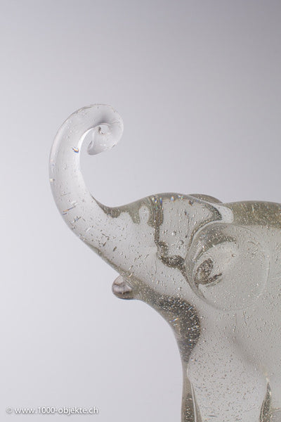 Alfredo Barbini Figur Murano Glass Elephant sign.