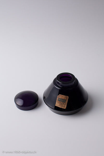 Purple glass box from Moser Bohemia.