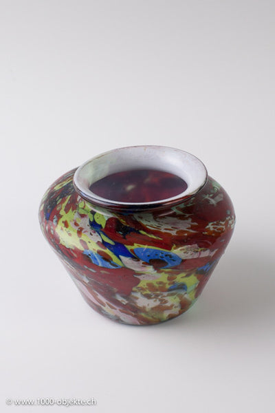Artisti Barovier Murano vase colored marbled glass