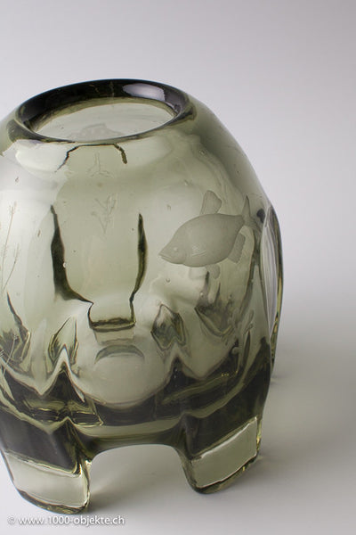 Glass-object Elis Berg for Kosta 1930