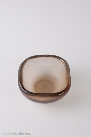 "Carlo Scarpa for Venini. ""Corroso bowl"" signed."