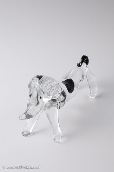 Antonio da Ros for Cenedese. Glass figurine dachshund 1960.