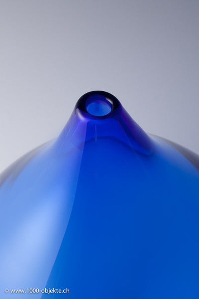 Orrefors Big Blue Drop Limited Edition Vase