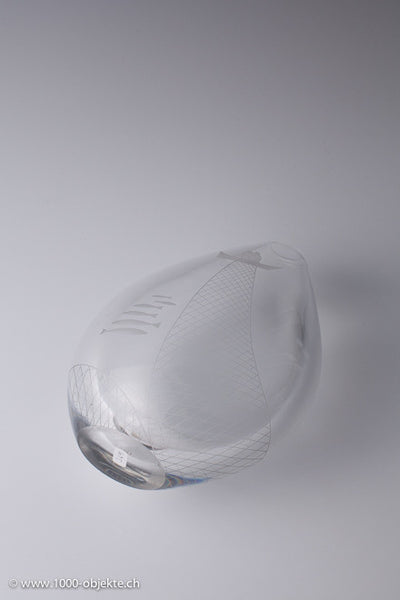 Sven Palmqvist for Orrefors-Engraved glass vase