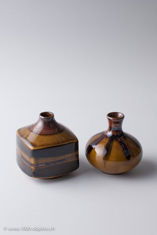 Studio - ceramic 2 vases signed and numbered, 1950
