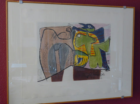 "Le Corbusier. ""Je rêvais"" - Edition 30, signed in originalframe"