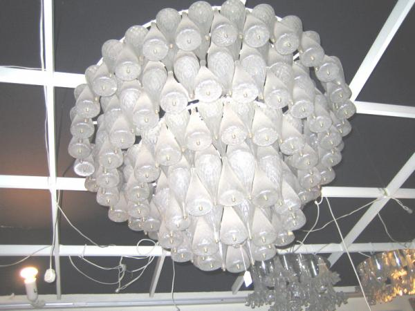 Barovier & Toso. Ceilinglamp or Chandellier 1971.