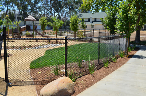 Example Of Chain Link Fence With Top Rail