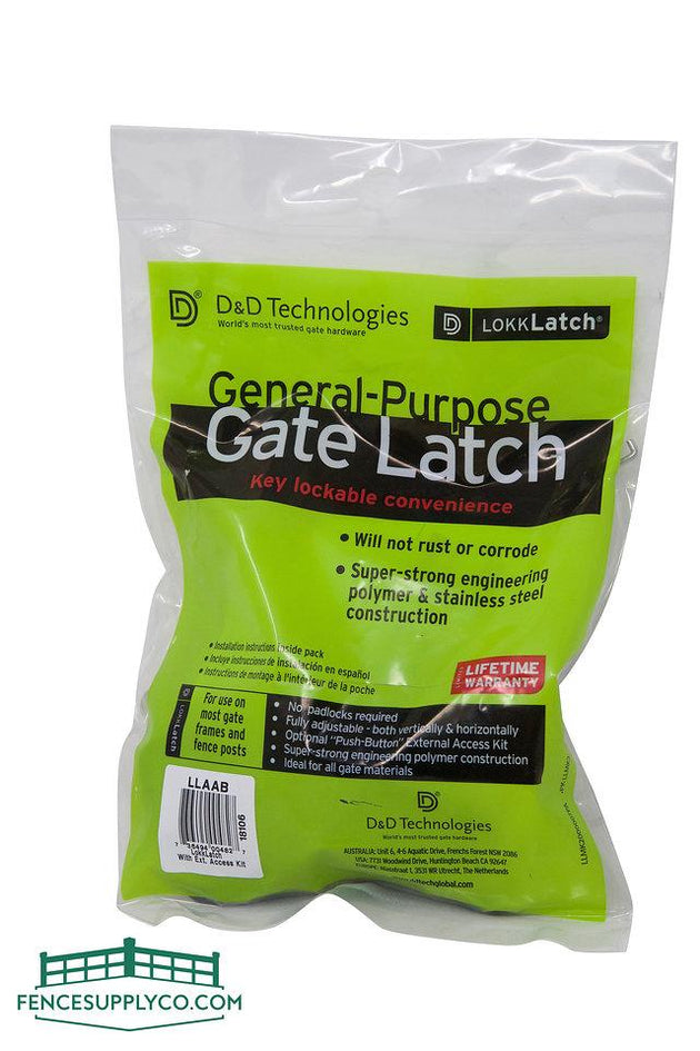 LokkLatch Series 2 With Easy Access Kit - LLAAB - FenceSupplyCo.com
