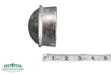 Dome Top Round Post Cap Galvanized - FenceSupplyCo.com