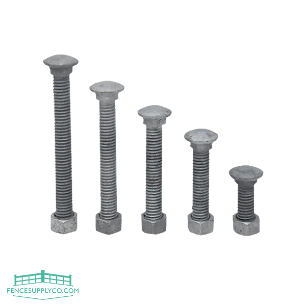 "Carriage Bolts And Nuts (1-1/4"" to 3-1/2"") - FenceSupplyCo.com"