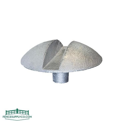 Gate Center Stop Malleable - Mushroom Style - FenceSupplyCo.com