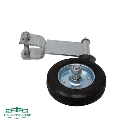Gate Swivel Wheel For Round Pipe Or Tube (Hot Dip Galvanized) - FenceSupplyCo.com