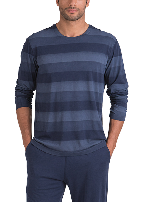 100% Peruvian Pima Cotton Hand Painted Stripe Long Sleeve - 2 Available colors