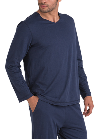 100% Peruvian Pima Cotton Long Sleeve Replenishment V-neck