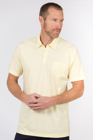 100% Peruvian Pima Cotton Luxe Finish 3 Button Polo - <i> 7 available colors </i>