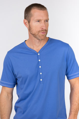 100% Peruvian Pima Cotton Luxe Henley - <i> 7 colors available </i>