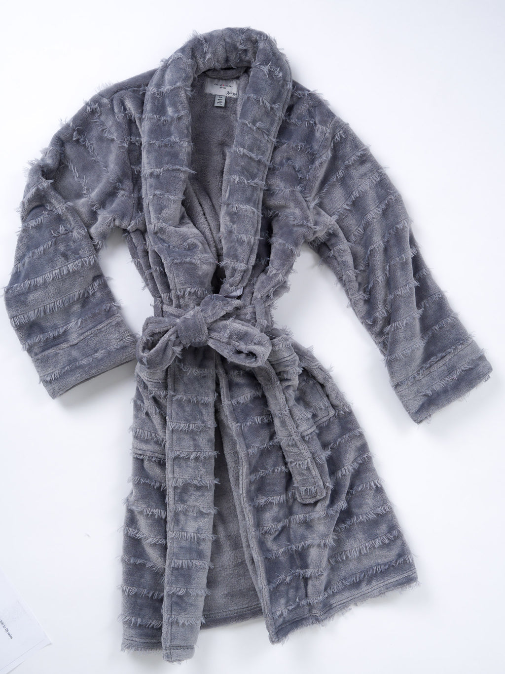Polyester Furry Stripe Robe - 3 colors available