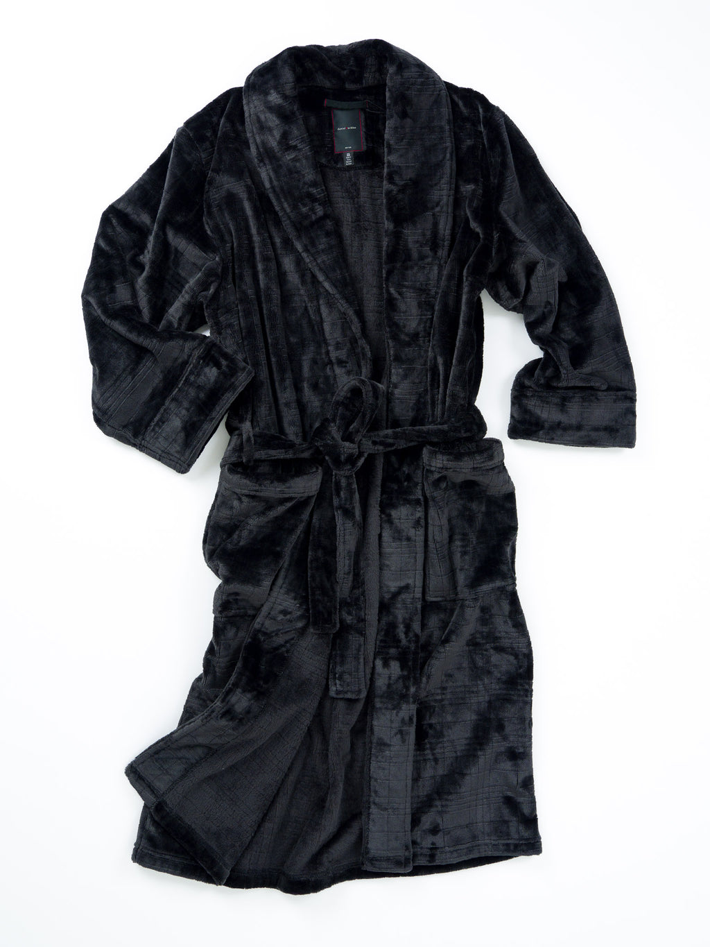 Plush Polyester Square Jacquard Robe - 2 colors available