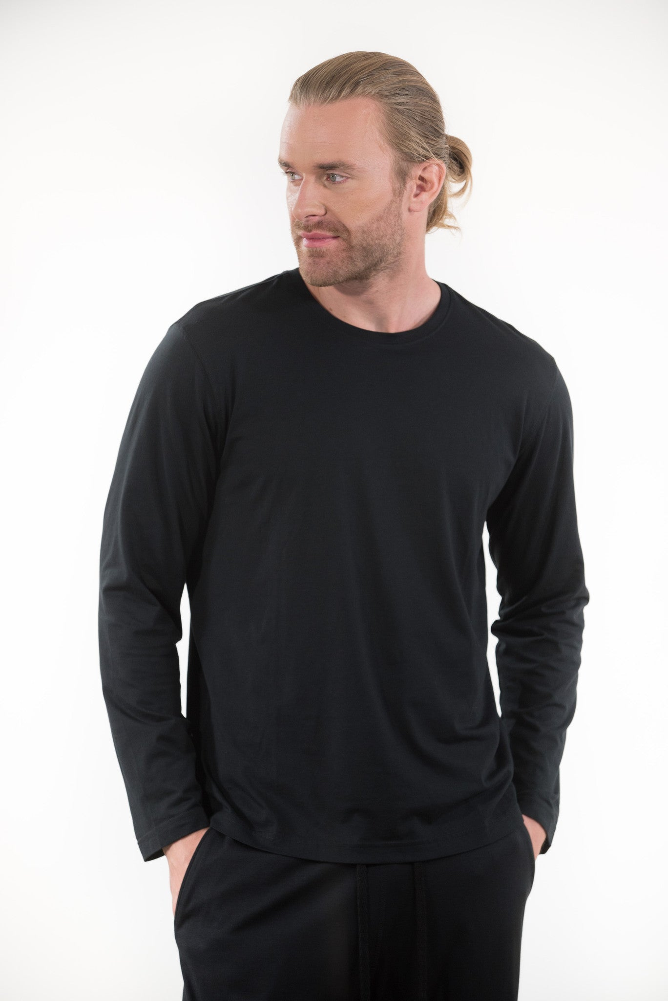 100% Peruvian Pima Cotton Replenishment Long Sleeve Crewneck