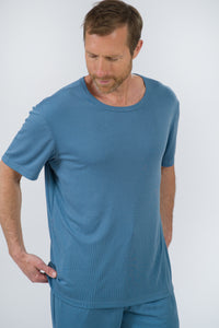 Ribbed Modal/Poly Short Sleeve Tee