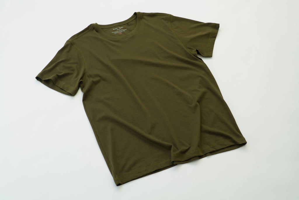 ~NEW~ 100% Peruvian Pima Cotton Olive Crewneck
