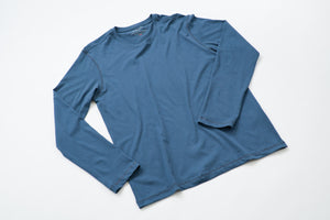 ~NEW~ 100% Peruvian Pima Cotton Denim Blue Long Sleeve
