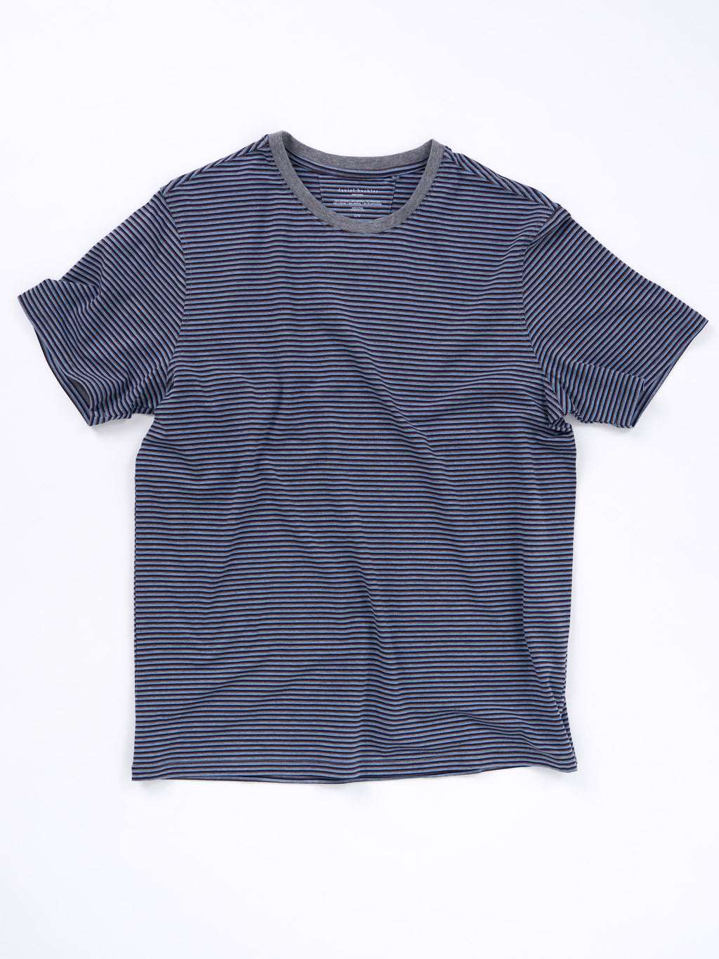 Cotton/Modal Tri-Stripe Crewneck