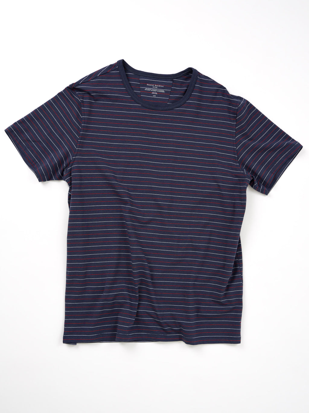 Cotton/Modal Striped Crewneck