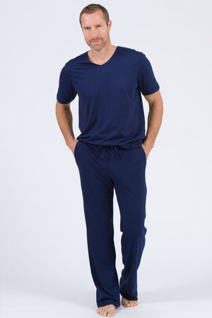 100% Peruvian Pima Cotton Replenishment Pant - Navy