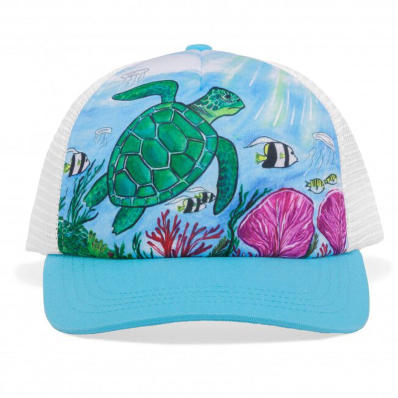 Sunday Afternoons Kid's Sea Turtle Trucker Hat.