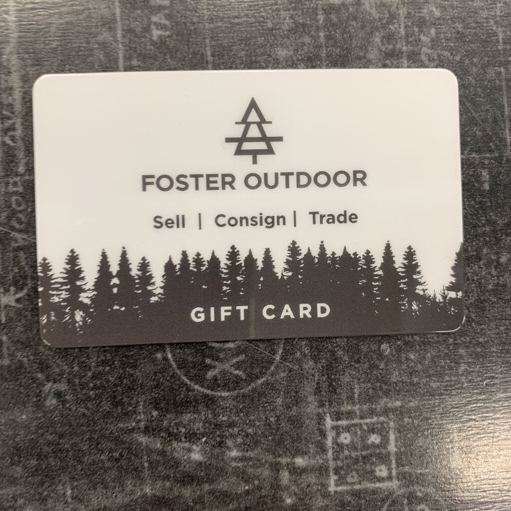 Foster Outdoor $25 Gift Card.