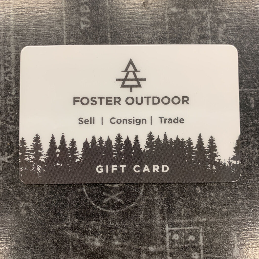 Foster Outdoor $75 Gift Card.