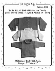 Easy Bulky Sweater Pattern
