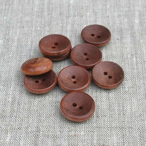 "1-3/8"" Cup Button-Walnut-6 Pack"