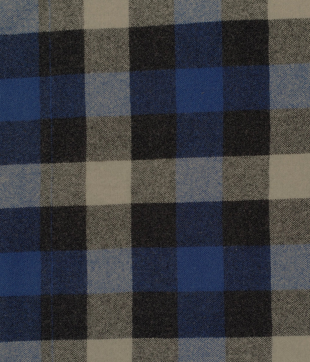 "Wool -56""- Blue/Black/Grey Plaid"
