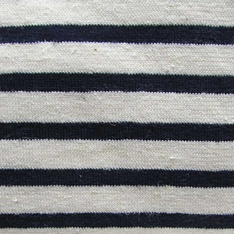 Jersey-Natural/Navy Stripe-55% Hemp, 45% Organic Cotton Jersey