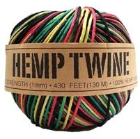 Hemp Twine-Rasta-1mm