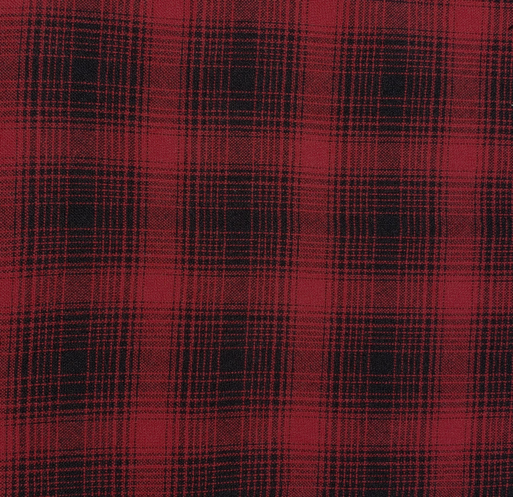 "Wool -60""- Red/Black Plaid"