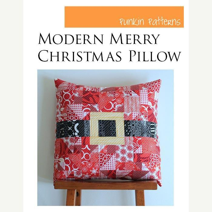 Modern Merry Christmas Pillow Pattern