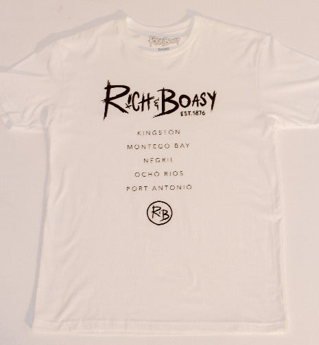 RICH AND BOASY YARD (JAMAICA) TOUR TEE - Rich&Boasy clothing