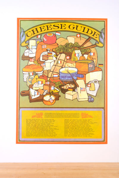 Set of Seven Fun Vintage Cooking Posters from the Delicious 1960s