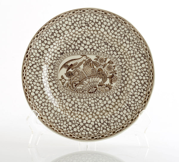 Adams Ironstone Chinese Bird Plate