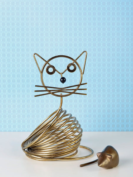 Brass Cat and Mouse