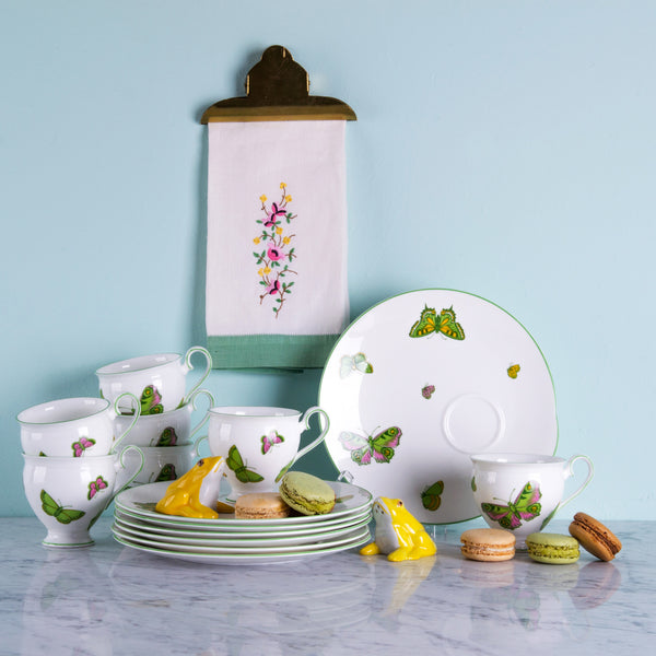 Butterfly Crown Staffordshire Tea Party Set