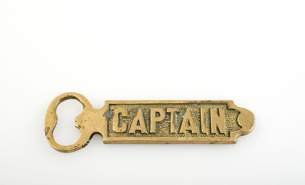 Vintage Brass Bottle Opener for the Captain