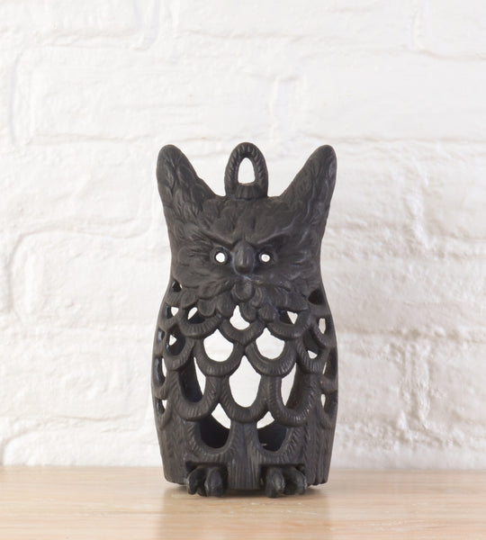 cast iron owl lantern lightbox